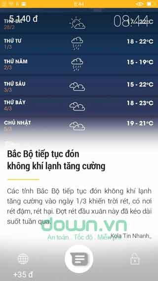 Trang dự báo thời tiết