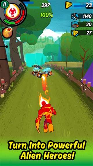 Ben 10: Up to Speed cho iOS hành động chiến đấu chống quái vật