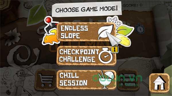 Vượt qua mọi chướng ngại vật hiểm trở trong game trượt tuyết vô tận Shred It! Ultimate cho máy tính