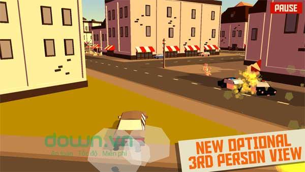 Giao diện game đua xe cảnh sát