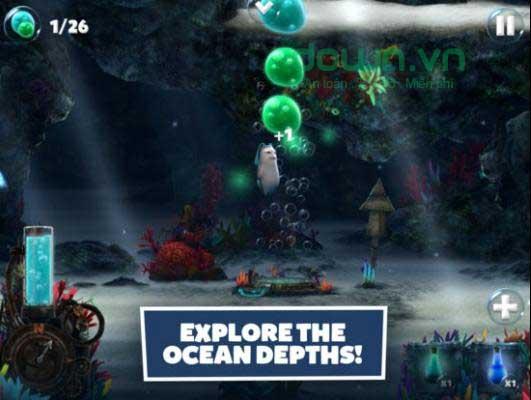 Khám phá đại dương sâu thẳm trong game phiêu lưu miễn phí Snailboy: Rise of Hermitron cho iOS