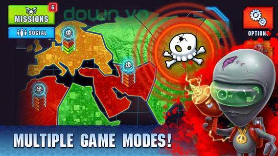 Monster Shooter 2: Back to Earth cho iOS đấu với hàng trăm tên boss quái dị