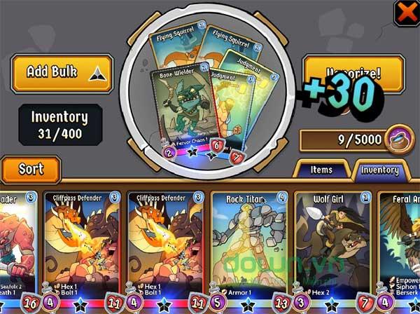 Tăng sức mạnh cho các thẻ bài trong game miễn phí Spellstone cho máy tính và Mac