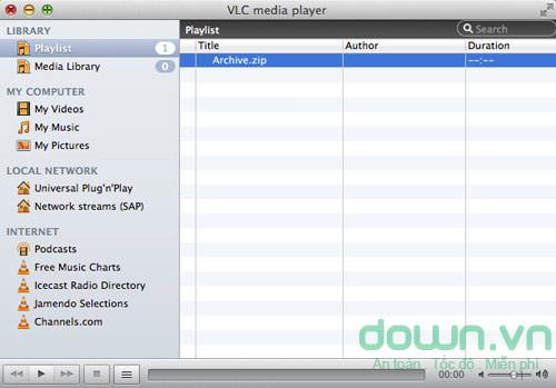 Chạy file media trong file lưu trữ