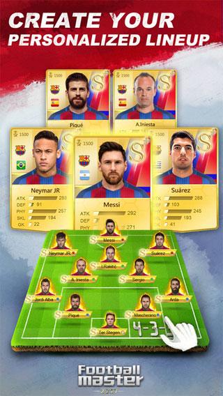Football Master 2017 cho iOS cá nhân hóa đội hình