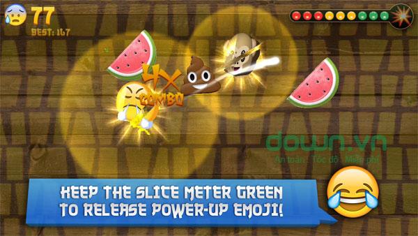 Emoji Samurai cho iOS là game mobile ăn theo Fruit Ninja đình đám