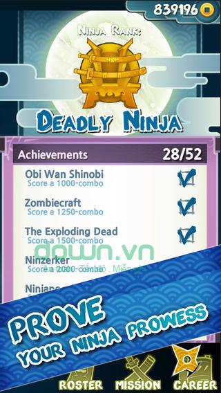 Ninja Slash cho iOS game tiêu diệt zombie