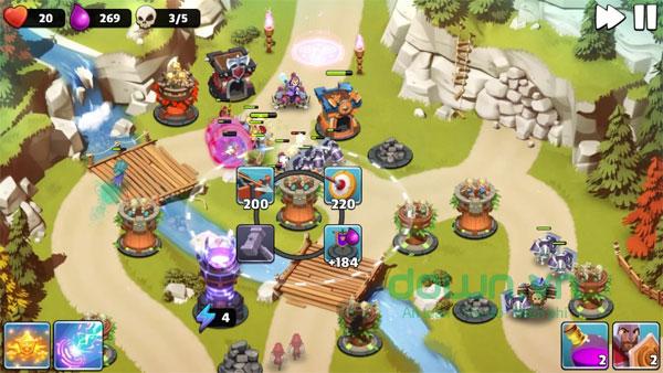 Castle Creeps TD cho iOS thiết kế nhân vật hoạt hình đẹp mắt