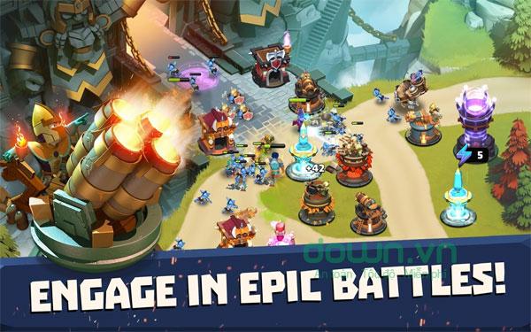 Nhập vai thành anh hùng trong Castle Creeps TD cho iOS