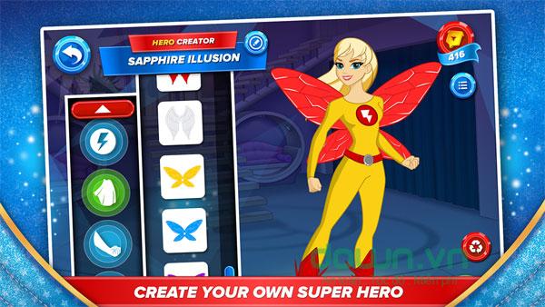 Chơi mini game vui cùng nữ siêu anh hùng