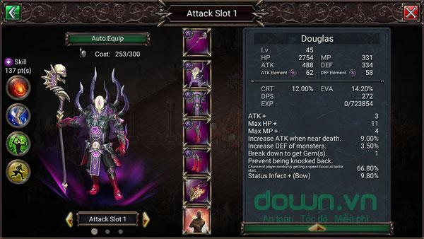 Chiến đấu tổ đội kết hợp phòng thủ trong game Fortress Legends