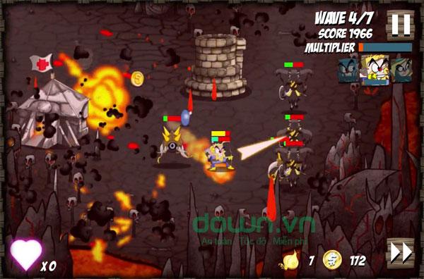 Tận dụng mọi khả năng trong game phiêu lưu hành động phòng thủ Onion Force cho máy tính