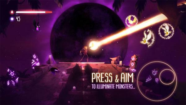 Nhắm mục tiếu và chạm để tấn công kẻ thù trong Towaga cho Android