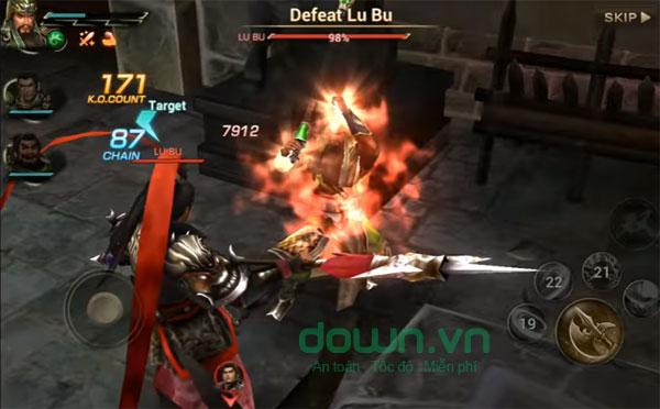 Giao diện chính của game Tam Quốc