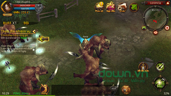 Giao diện game tiếng Việt