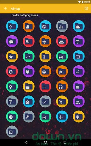 Thưc mục icon theo màu