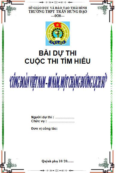 Bìa bài dự thi