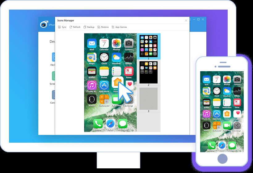 Sắp xếp lại biểu tượng (icon) trên iPhone dễ dàng thông qua iTools