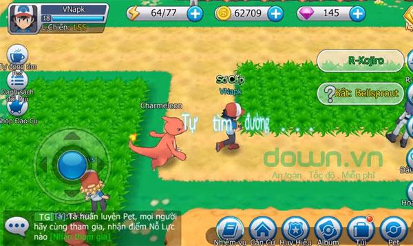 Nâng cấp Pokemon