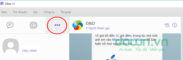 Giao diện chat