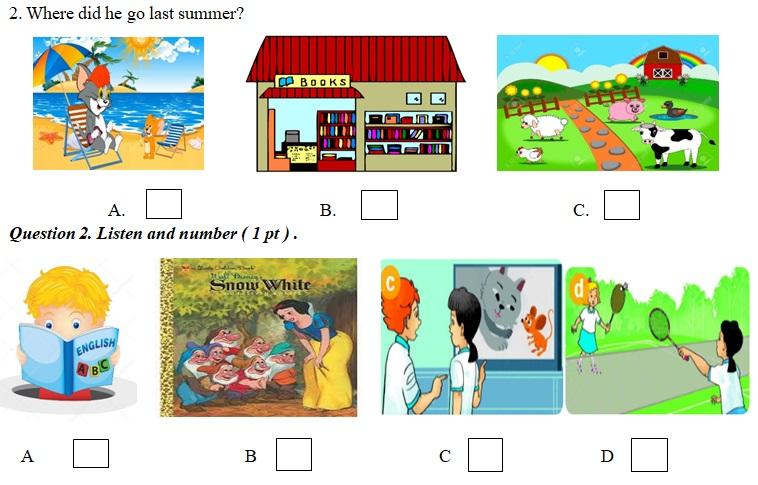 đề thi học kì 1 môn Tiếng Anh lớp 5