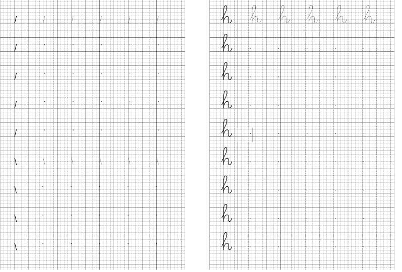 Mẫu vở luyện chữ cho học sinh lớp 1