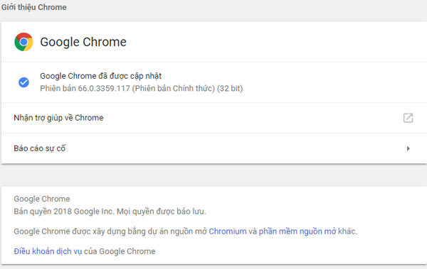 Phiên bản Google Chrome 53