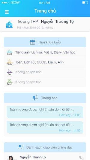 Giao diện chính của ứng dụng PINO