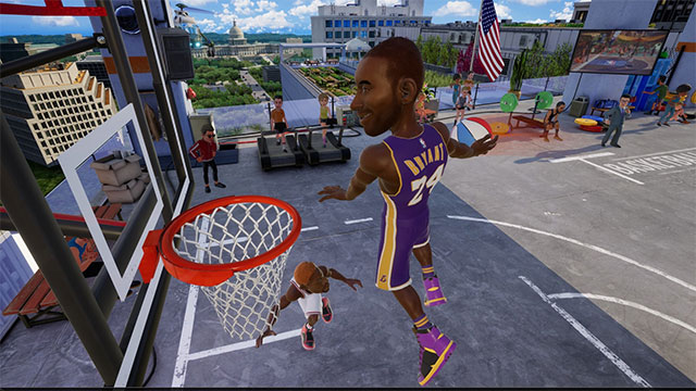 Giao diện chính của game NBA 2K Playgrounds 2