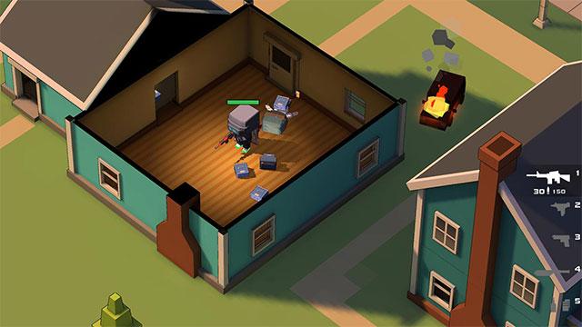 Giao diện chơi game bắn súng sinh tồn