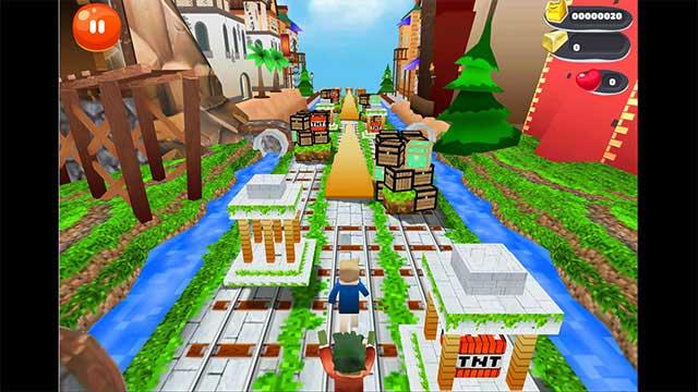 Game chạy bất tận trong thế giới Minecraft