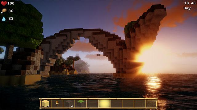 Game cuộc chiến sinh tồnCube Life: Island Survival